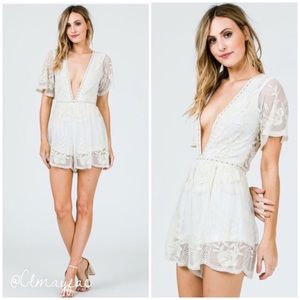 Pants - SALE⭐️New Embroidered Lace Romper
